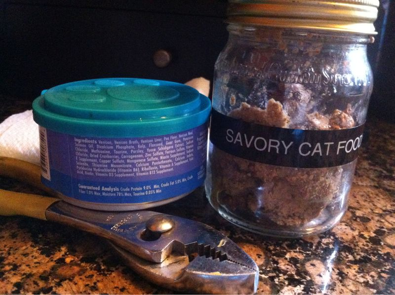 KIZZME KISS:  Need a crowbar to remove your catfood can lids?