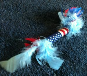 Kizzme Firecracker Catnip Toy -- Cats Love this Holiday Toy!  Just $4.95